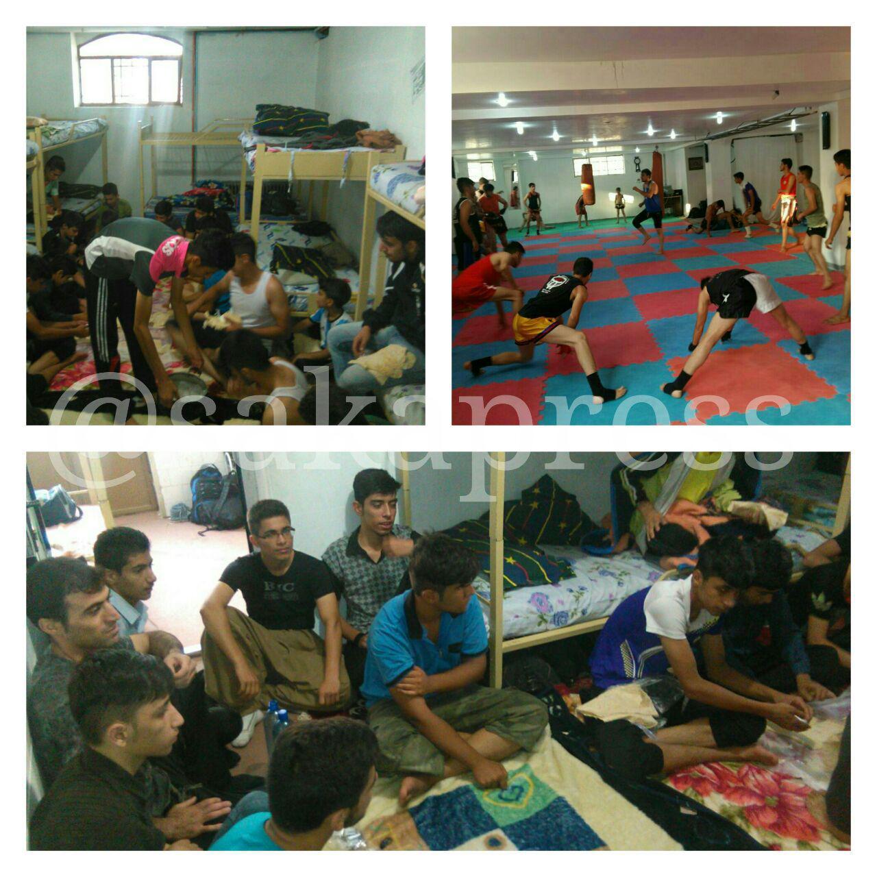 اردو و تمرین مشترک تیم منتخب استان کردستان با ورزشکاران باشگاه ایمان