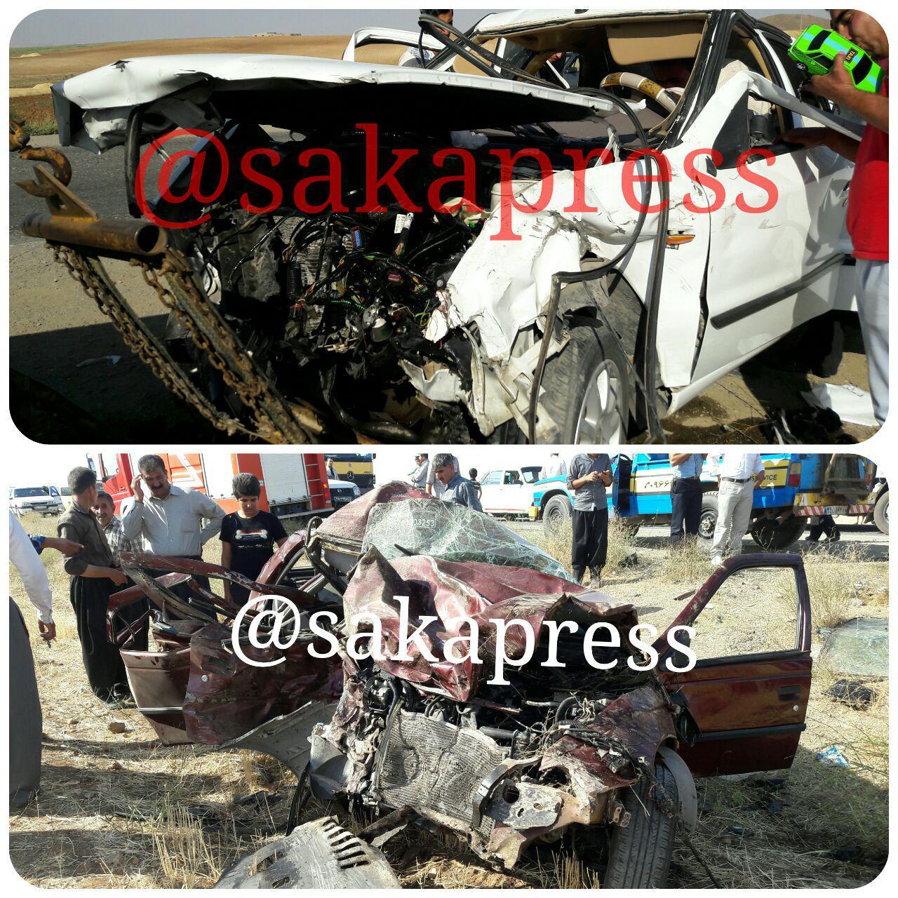 ۱۳ کشته و زخمی در تصادف محور سقز دیواندره