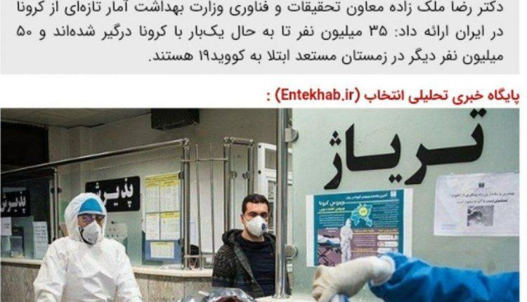 ۳۵ میلیون ایرانی کرونا گرفته اند