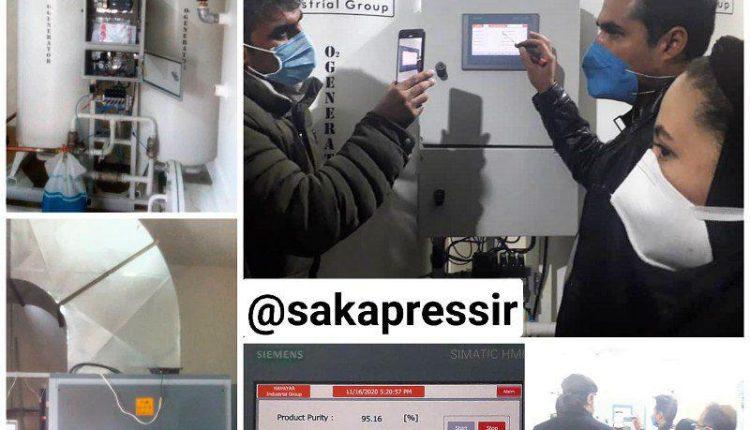 دستگاه اکسیژن ساز بیمارستان امام شروع به کار کرد